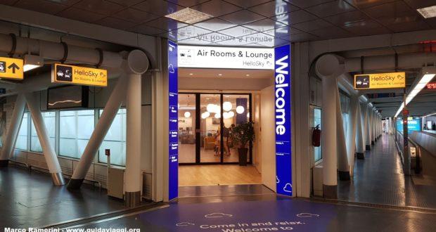 Entrada do hotel HelloSky Rome Airport. Autor e Copyright Marco Ramerini