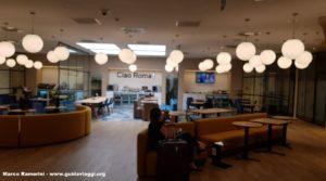 O salão do hotel HelloSky Rome Airport. Autor e Copyright Marco Ramerini