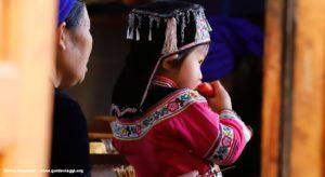 Criança, Qingkou, Yuanyang, Yunnan, China. Autor e Copyright Marco Ramerini