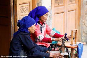 Mulheres, Qingkou, Yuanyang, Yunnan, China. Autor e Copyright Marco Ramerini ...
