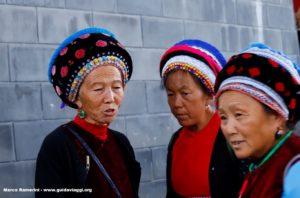 Mulheres, Zhoucheng, Yunnan, China. Autor e Copyright Marco Ramerini .