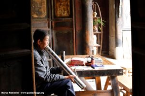 Homem, Tuanshan, Yunnan, China. Autor e Copyright Marco Ramerini