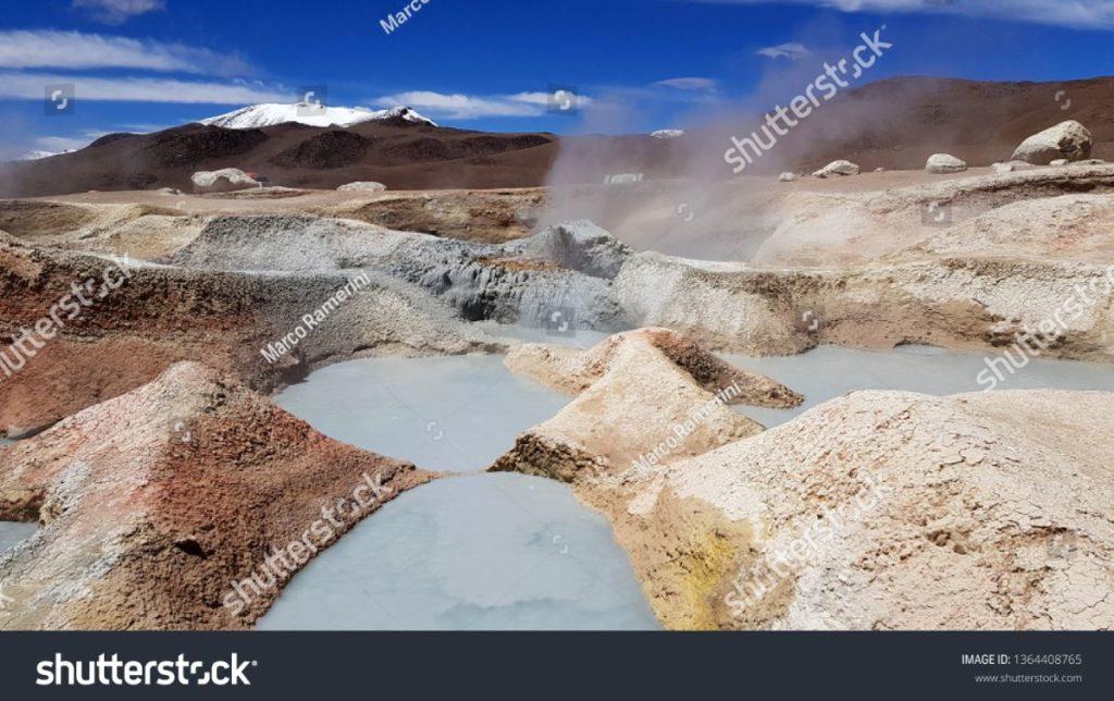 Gêiser Sol de Manana, Bolívia. Autor e Copyright Marco Ramerini