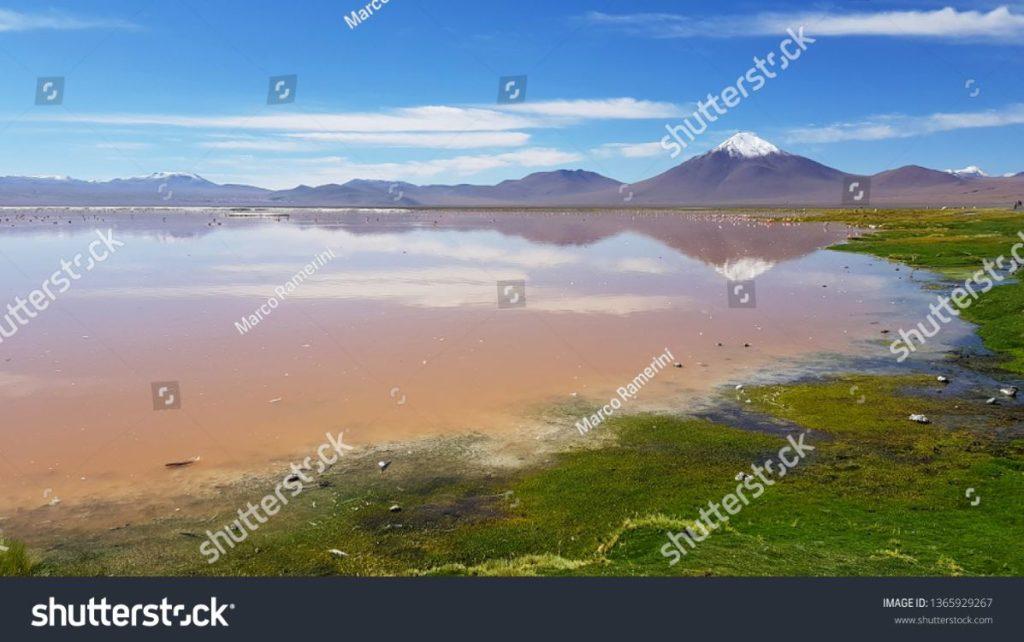 Laguna Colorada, Bolívia. Autor e Copyright Marco Ramerini