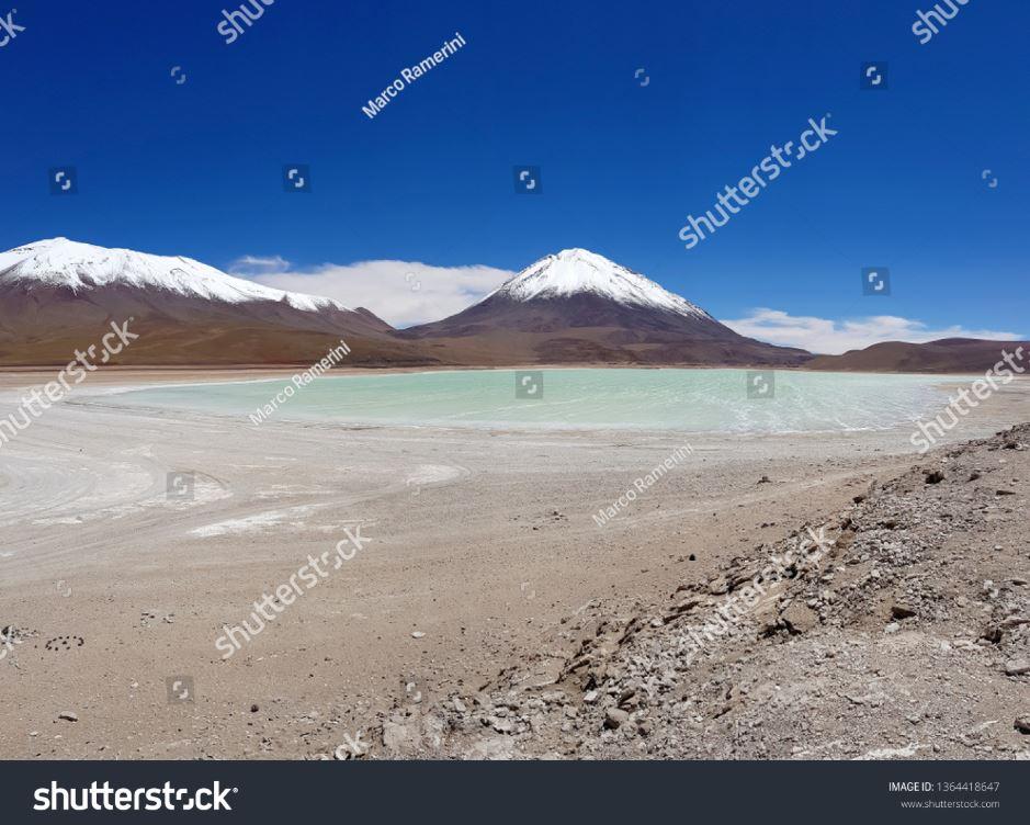 Laguna Verde, Bolívia. Autor e Copyright Marco Ramerini