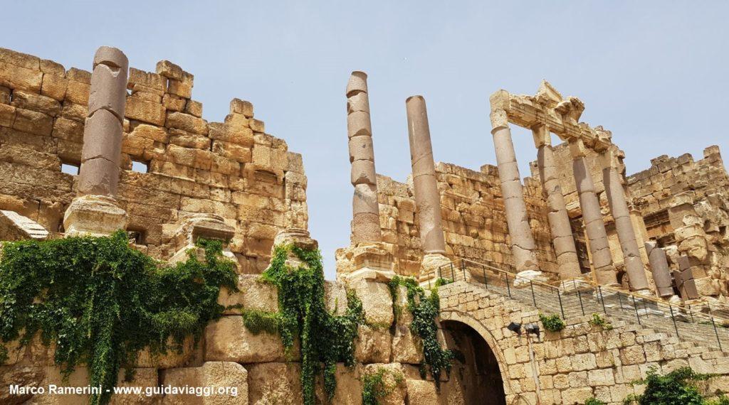 A entrada para Baalbek, Vale do Beca, Líbano. Autor e Copyright Marco Ramerini