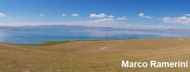 O lago Song Kol, Quirguistão. Autor e Copyright Marco Ramerini