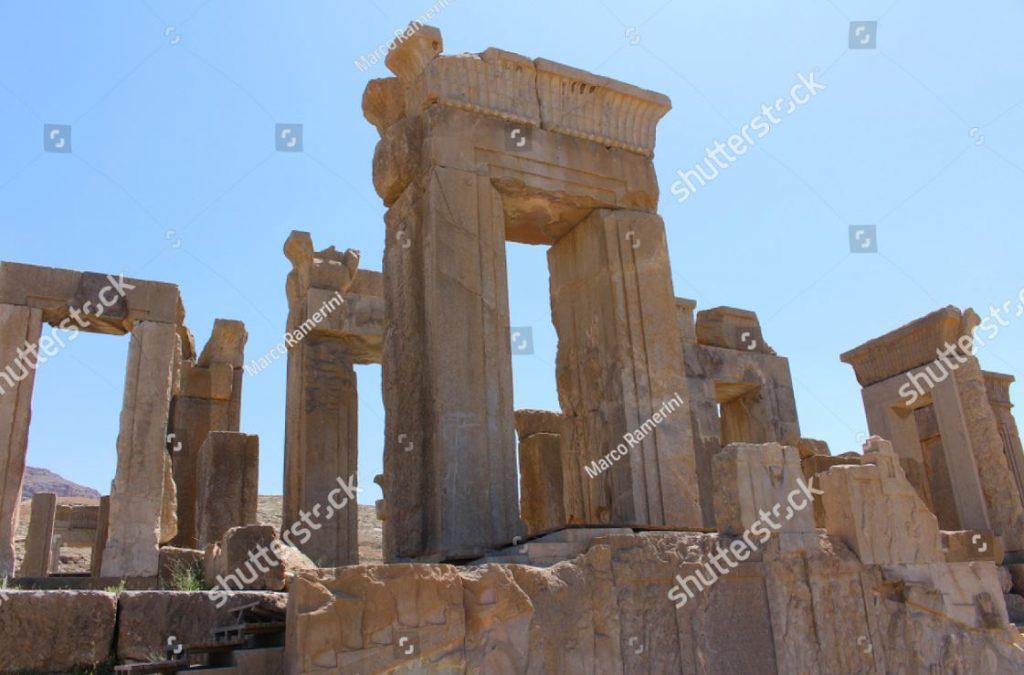 Persépolis, Irã. A Tachara (Palácio de Dario, o Grande). Ruínas da capital cerimonial do Império Aquemênida. Autor e copyright Marco Ramerini.
