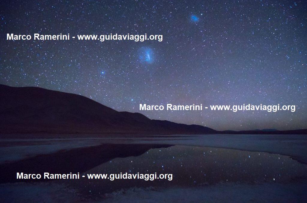 O Ojos de Mar e as estrelas refletidas, Argentina. Autor e direitos autorais Marco Ramerini