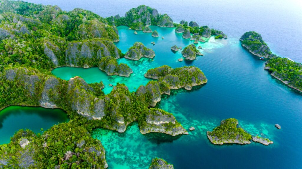 Raja Ampat, Indonésia. Credit Ministry of Tourism, Republic of Indonesia by KIAT