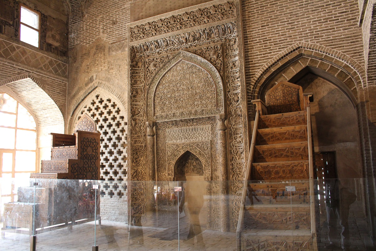 Mehrab Uljayto, Grande Mesquita (Mesquita Jāmeh), Isfahan, Irã. Autor e Copyright Marco Ramerini